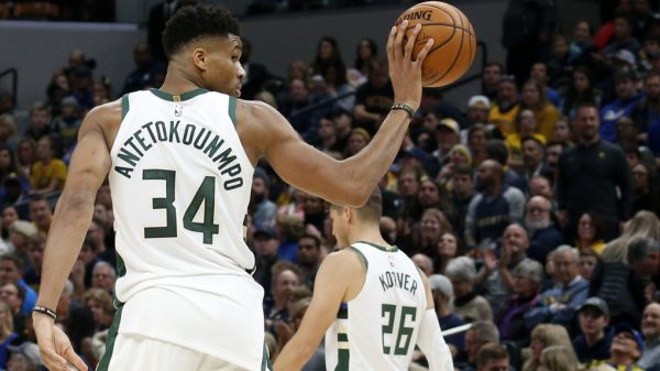 Giannis Antetokounmpo and Kyle Korver