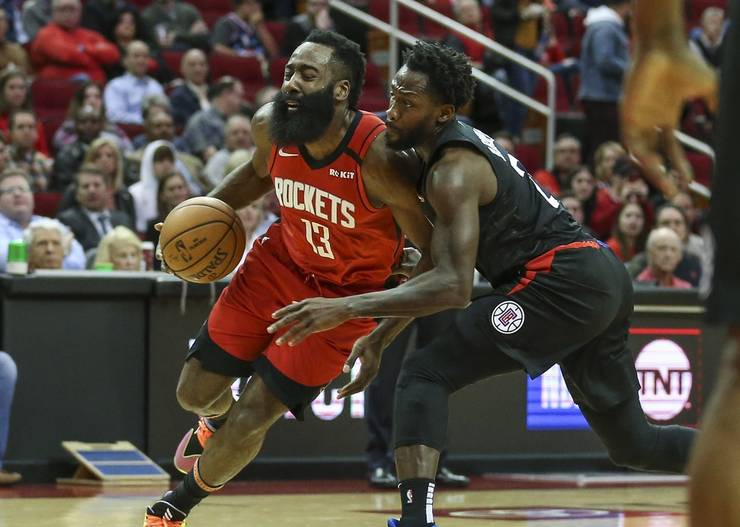 James Harden and Patrick Beverley