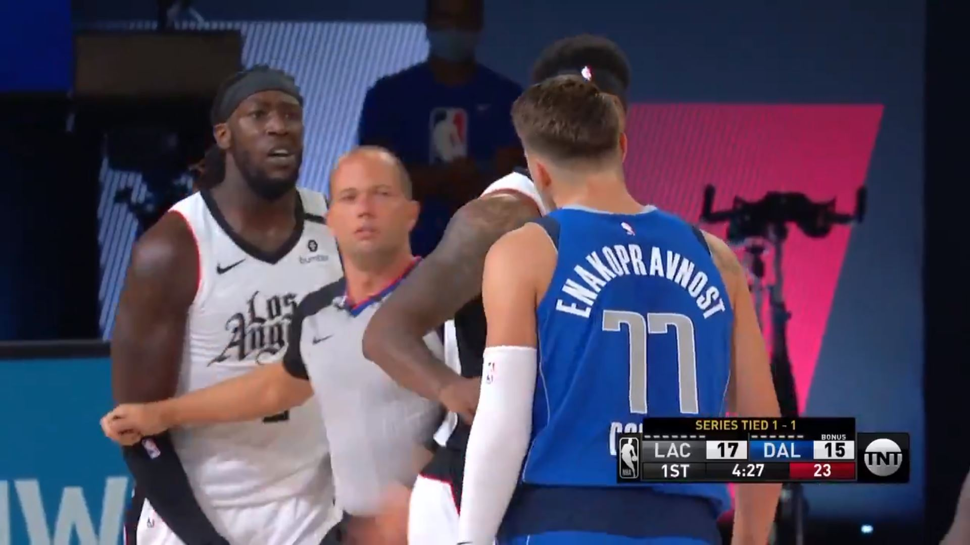 Luka Doncic and Montrezl Harrell