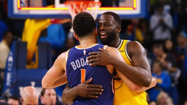 Devin Booker and Draymond Green