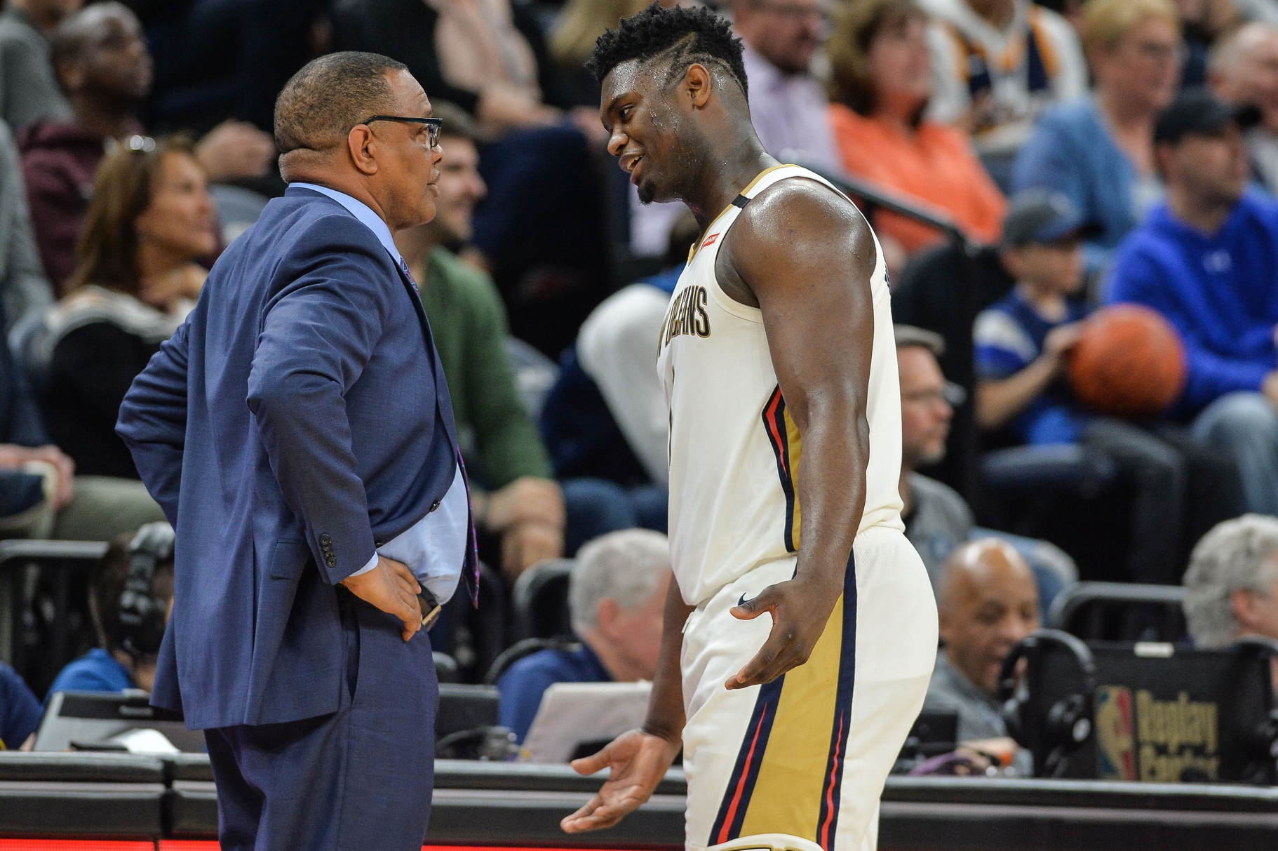 Zion Williamson and Alvin Gentry