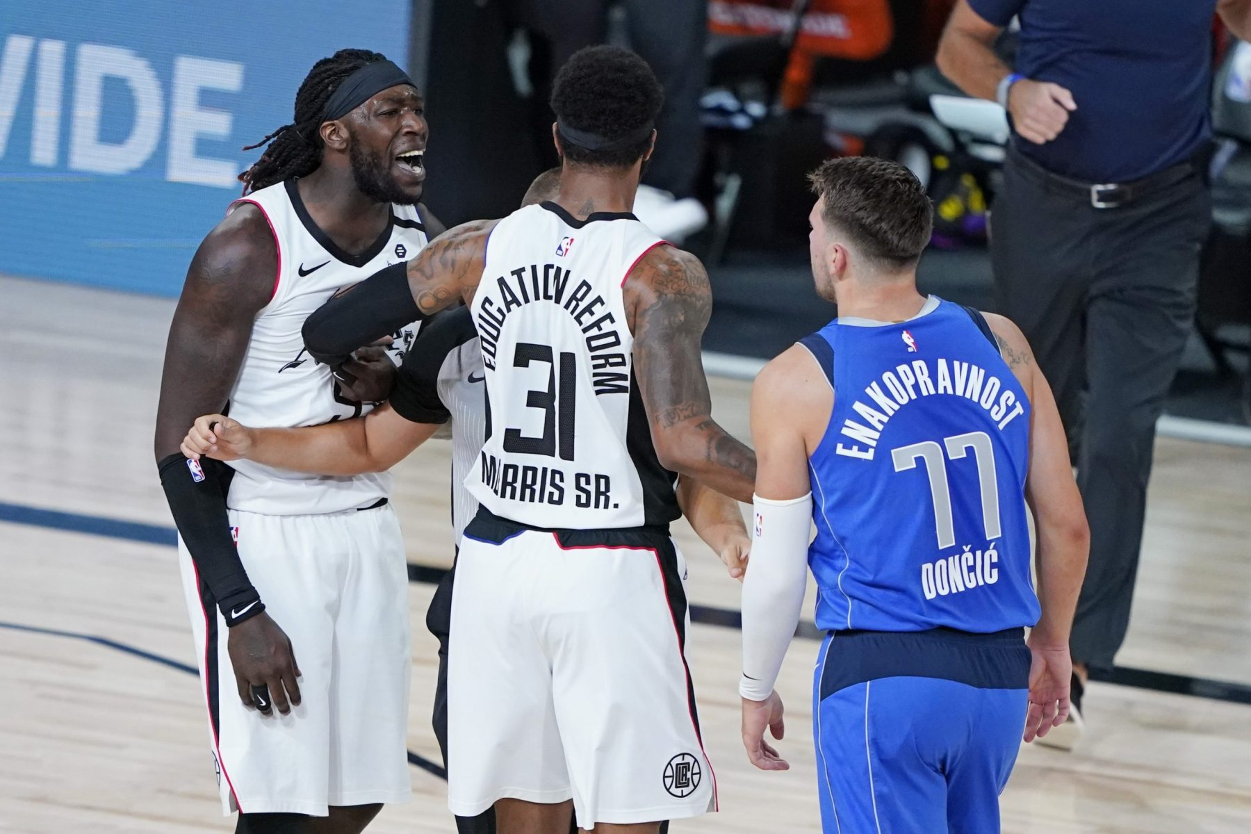 Montrezl Harrell and Luka Doncic