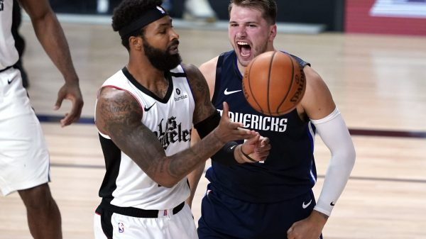Luka Doncic and Marcus Morris