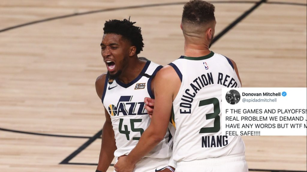 Donovan Mitchell and Georges Niang