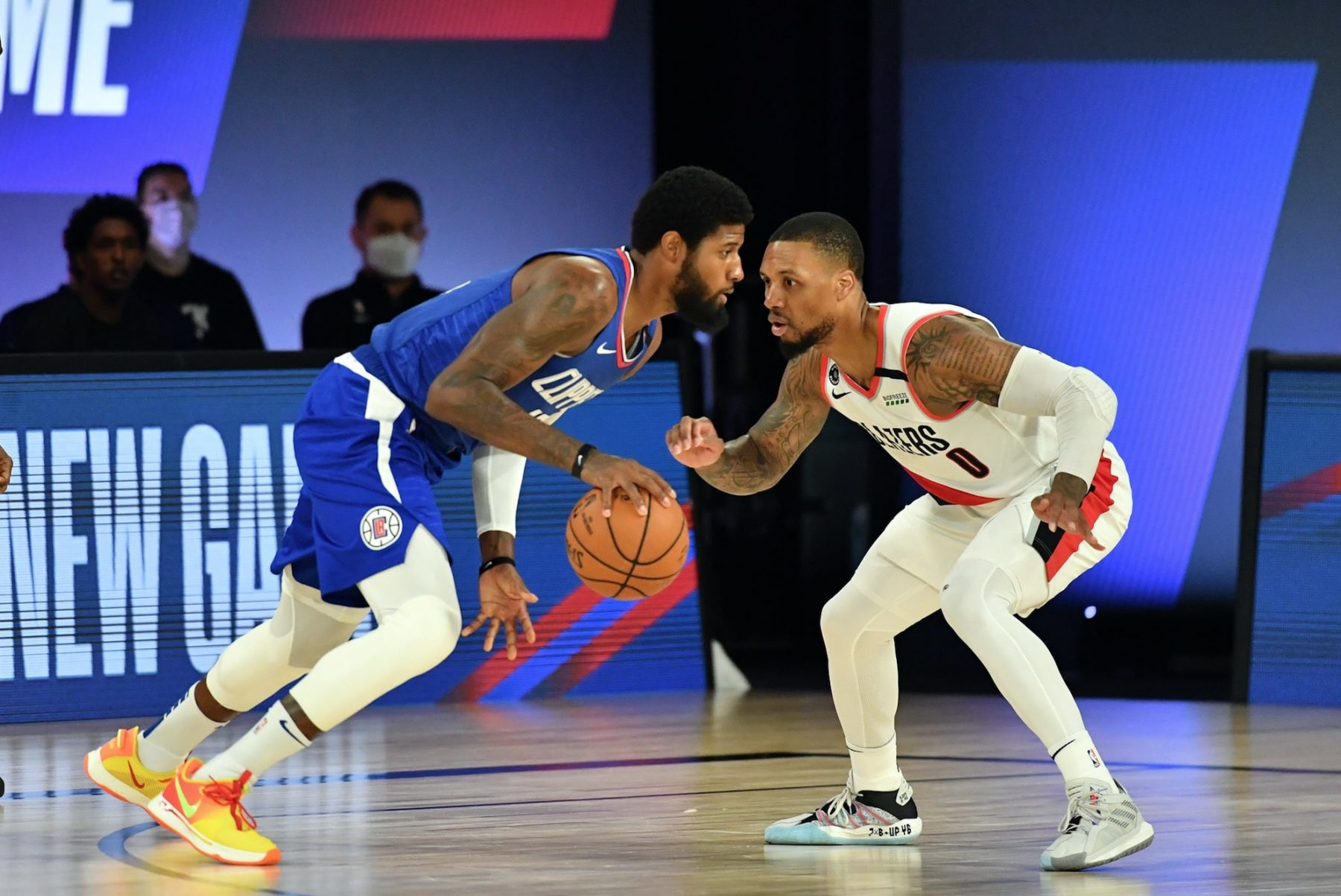 Paul George and Damian Lillard