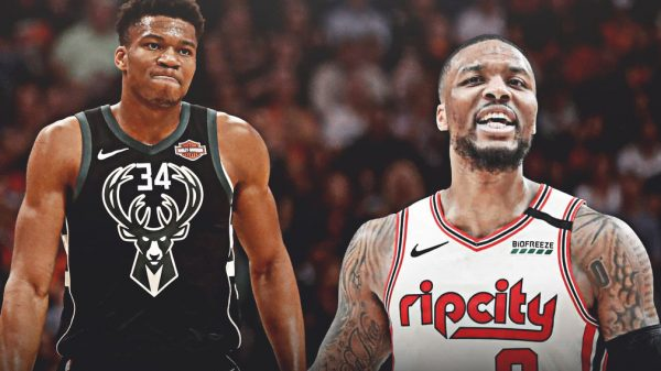 Giannis Antetokounmpo and Damian Lillard