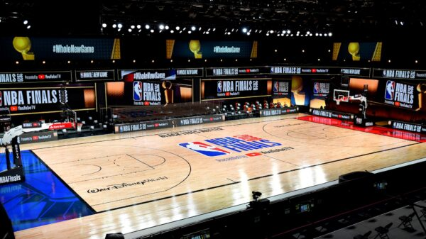 2020 NBA Finals court