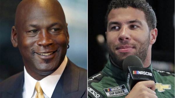 Michael Jordan and Bubba Wallace