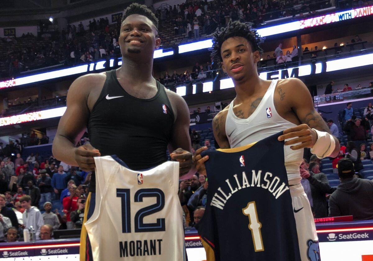 Zion Williamson and Ja Morant