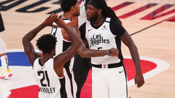 Paul George and Montrezl Harrell