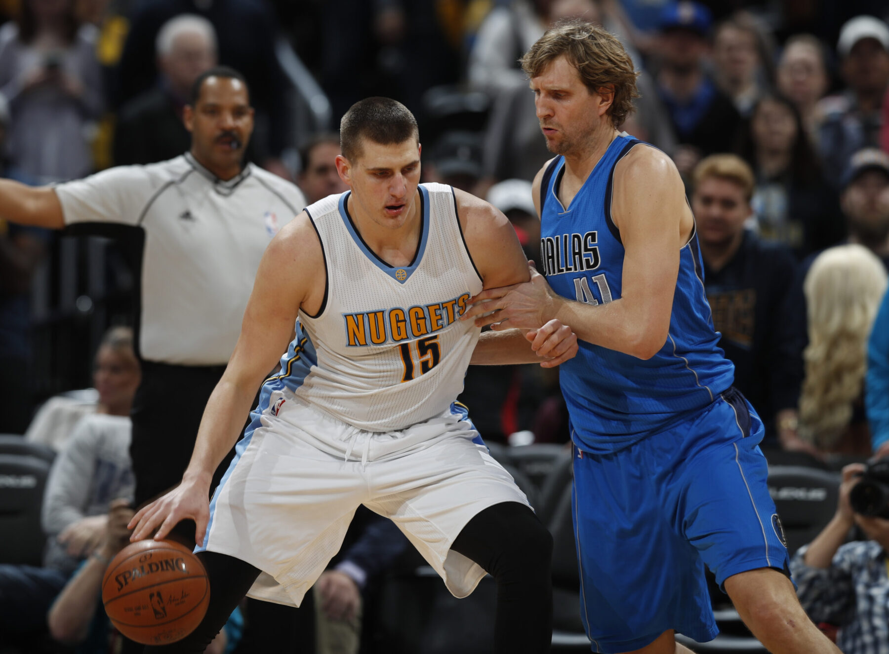 Nikol Jokic and Dirk Nowitzki
