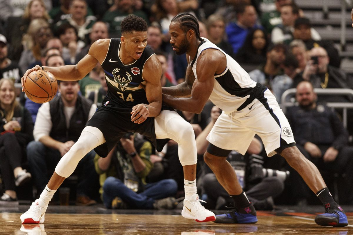 Giannis Antetokounmpo and Kawhi Leonard