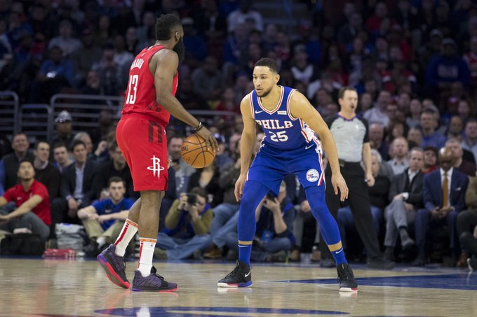 James Harden and Ben Simmons