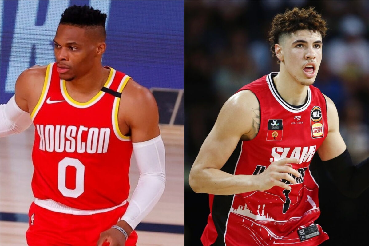 Russell Westbrook and LaMelo Ball