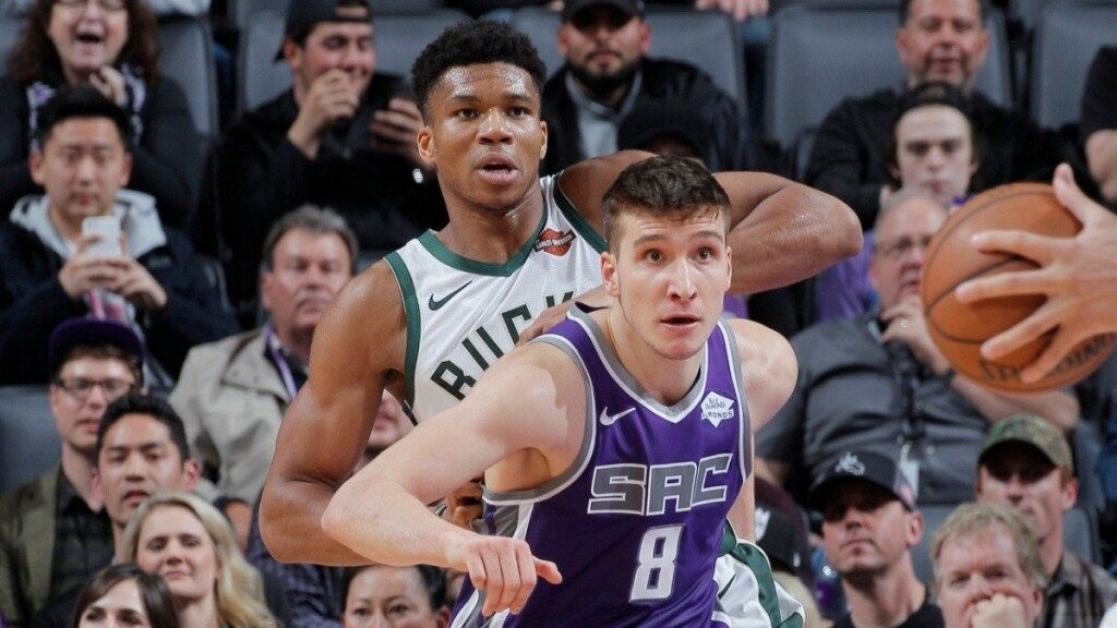 Giannis Antetokounmpo and Bogdan Bogdanovic