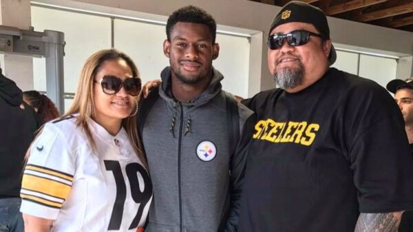 JuJu Smith-Schuster and his parents