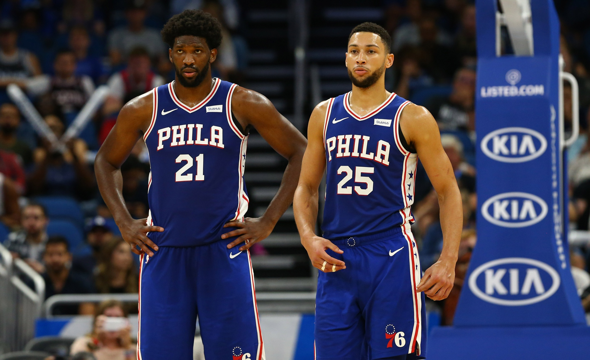 Joel Embiid and Ben Simmons