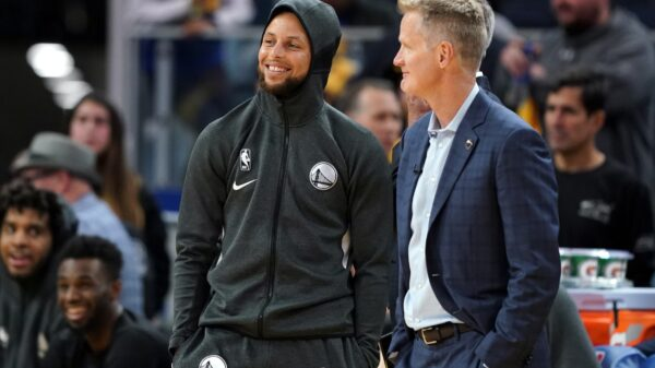 Steph Curry and Steve Kerr