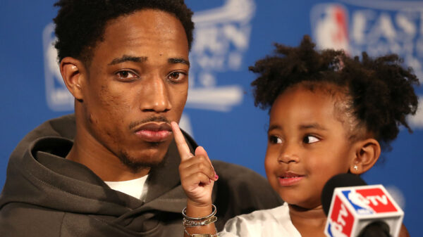 DeMar DeRozan and his daughter