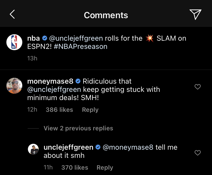 Jeff Green comments
