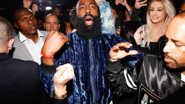 James Harden partying