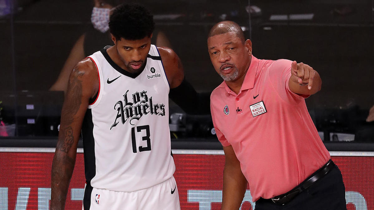 Paul George and Doc Rivers