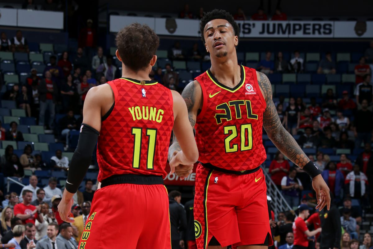 Trae Young and John Collins
