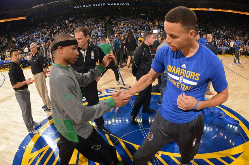 Stephen Curry and Isaiah Thomas