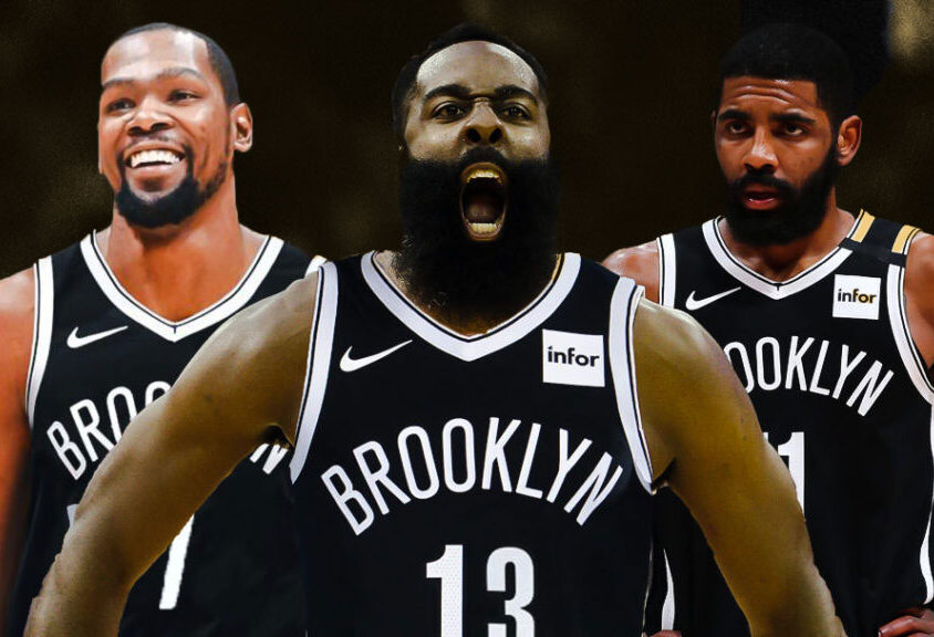 Kevin Durant, James Harden and Kyrie Irving