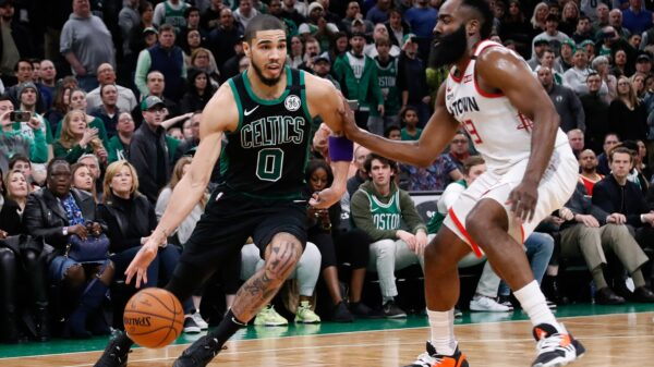 Jayson Tatum and James Harden