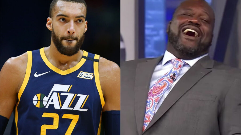 Rudy Gobert and Shaquille O'Neal