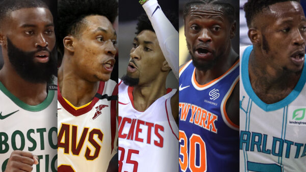Jaylen Brown, Collin Sexton, Christian Wood, Julius Randle and Terry Rozier