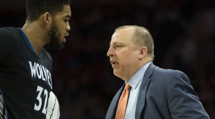 Karl-Anthony Towns and Tom Thibodeau