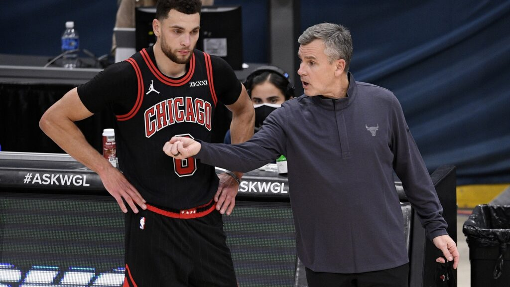 Zach LaVine and Billy Donovan