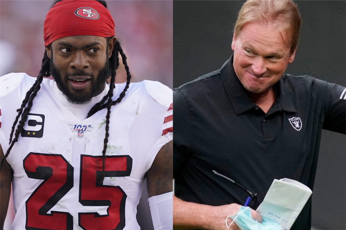 Richard Sherman and Jon Gruden