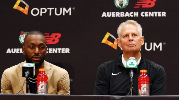 Kemba Walker and Danny Ainge