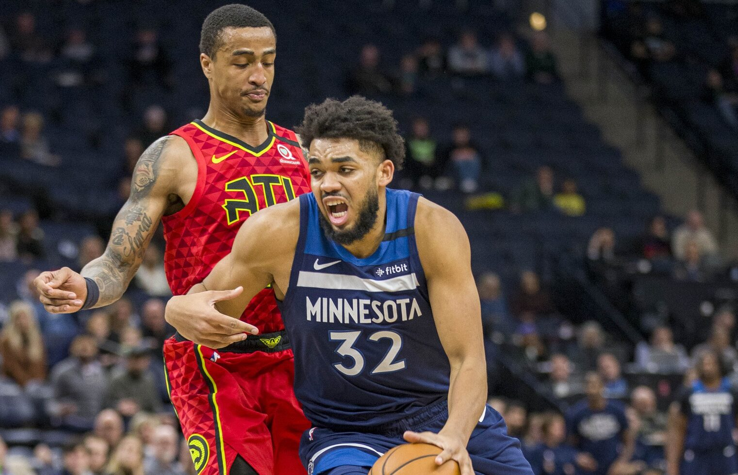 John Collins and Karl-Anthony Towns