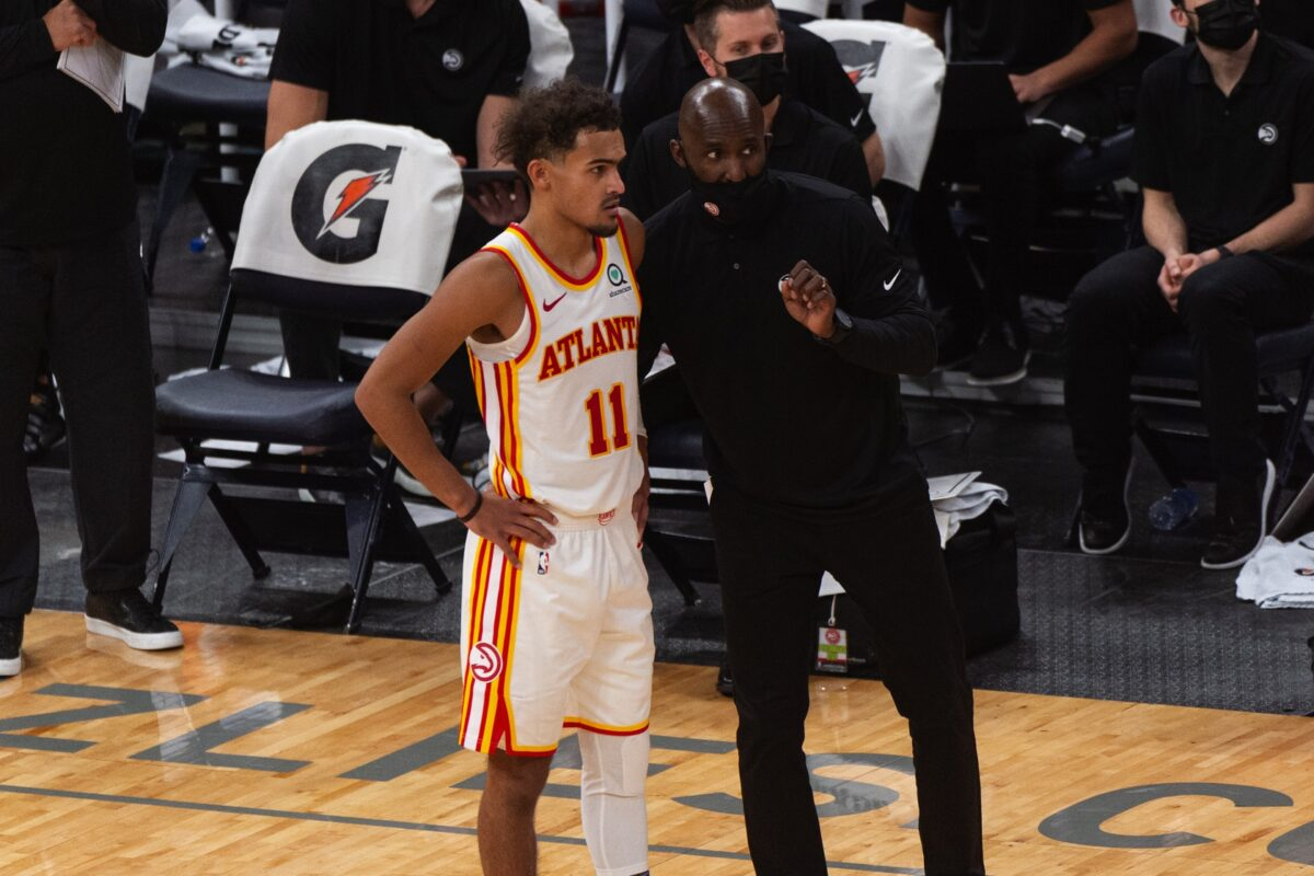 Trae Young and Lloyd Pierce