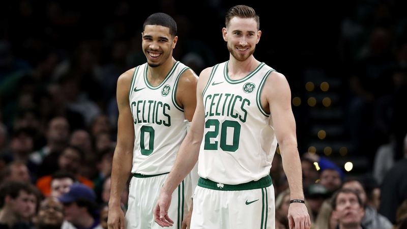 Jayson Tatum and Gordon Hayward