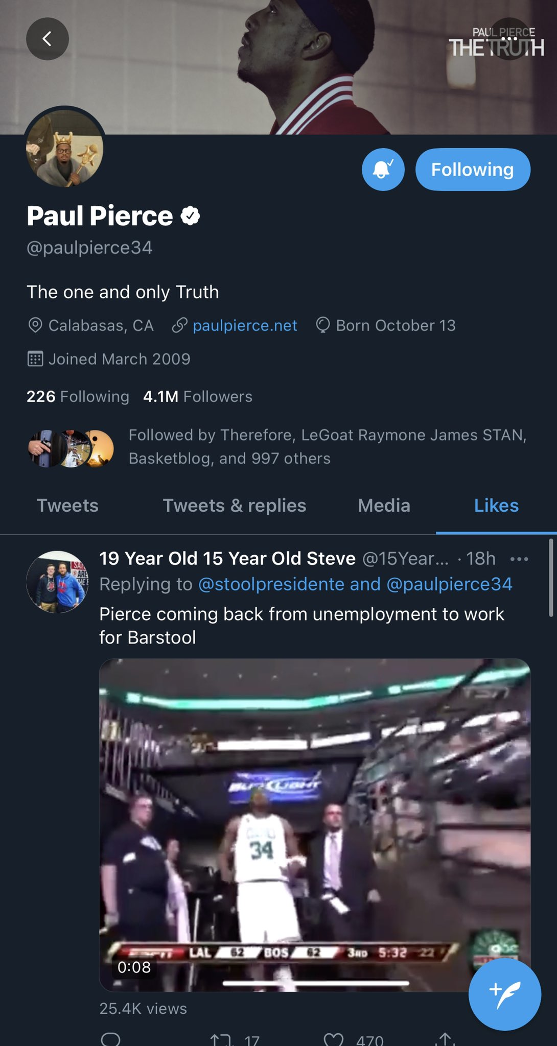 Paul Pierce Twitter