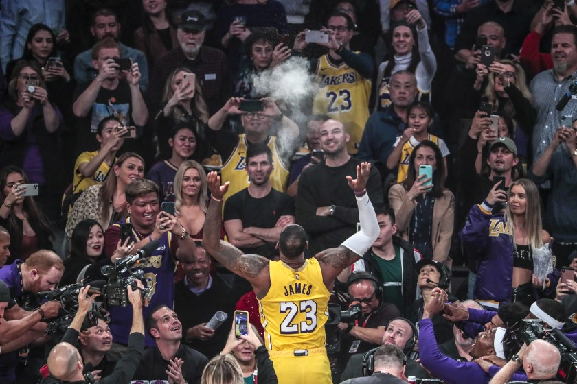 LeBron James and Lakers fans