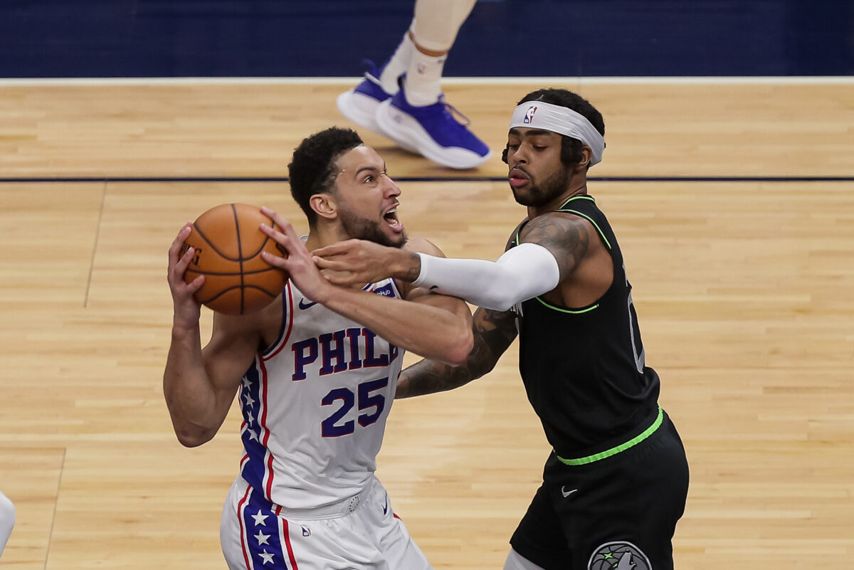 Ben Simmons and D'Angelo Russell