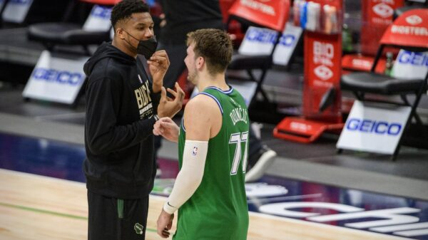 Giannis Antetokounmpo and Luka Doncic