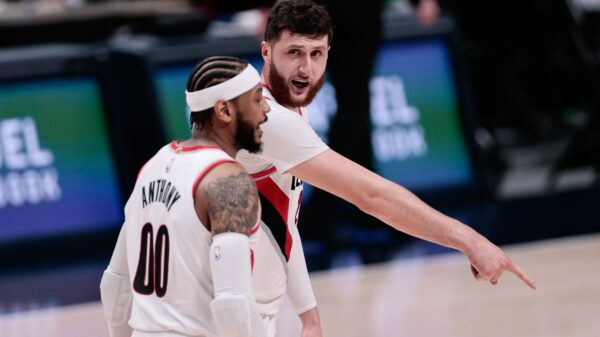 Jusuf Nurkic and Carmelo Anthony