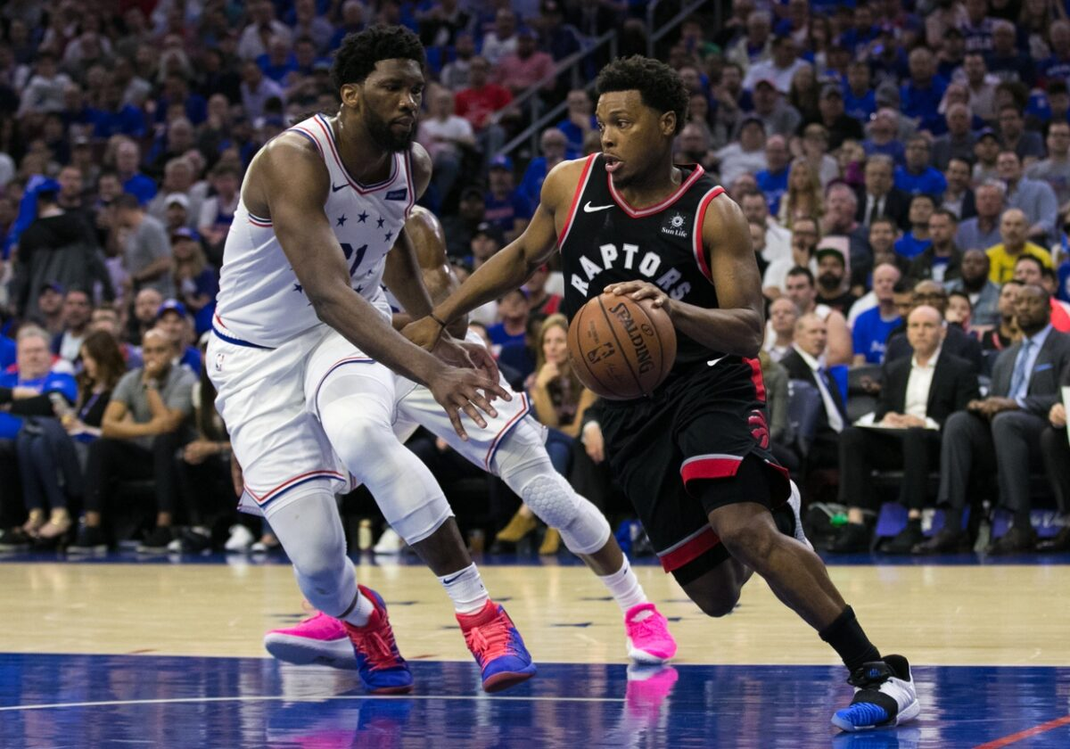 Kyle Lowry and Joel Embiid
