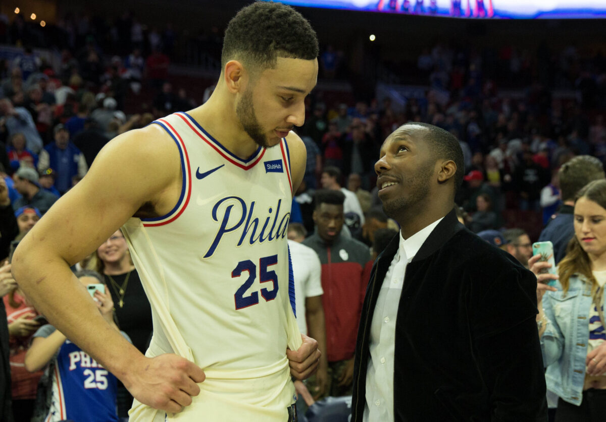Ben Simmons and Rich Paul