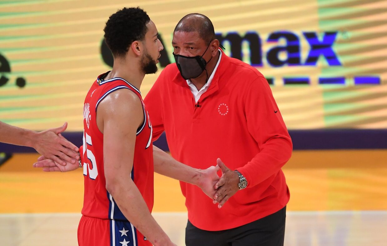 Ben Simmons and Doc Rivers
