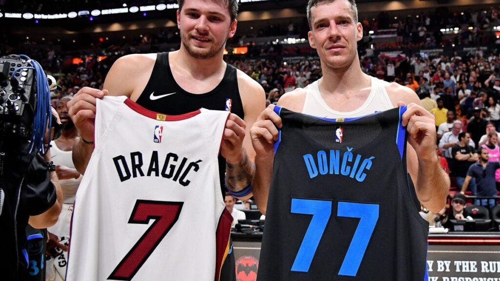 Goran Dragic and Luka Doncic