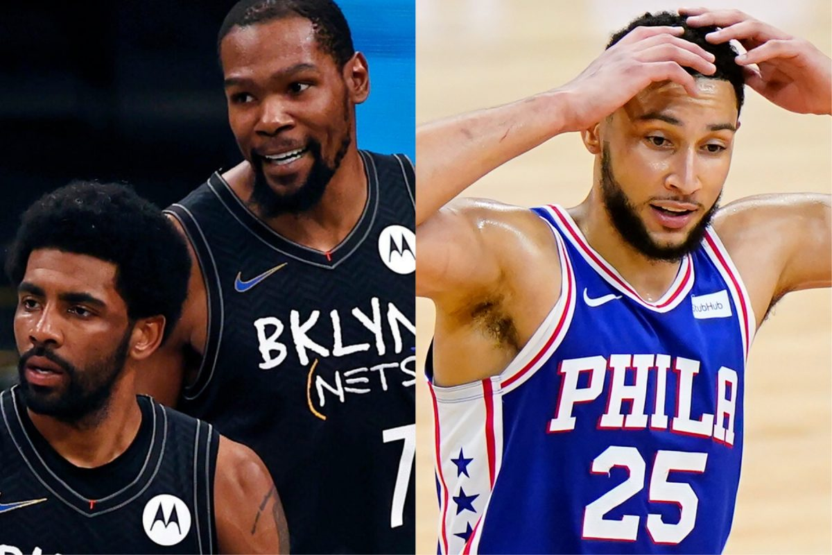 Kyrie Irving, Kevin Durant and Ben SImmons
