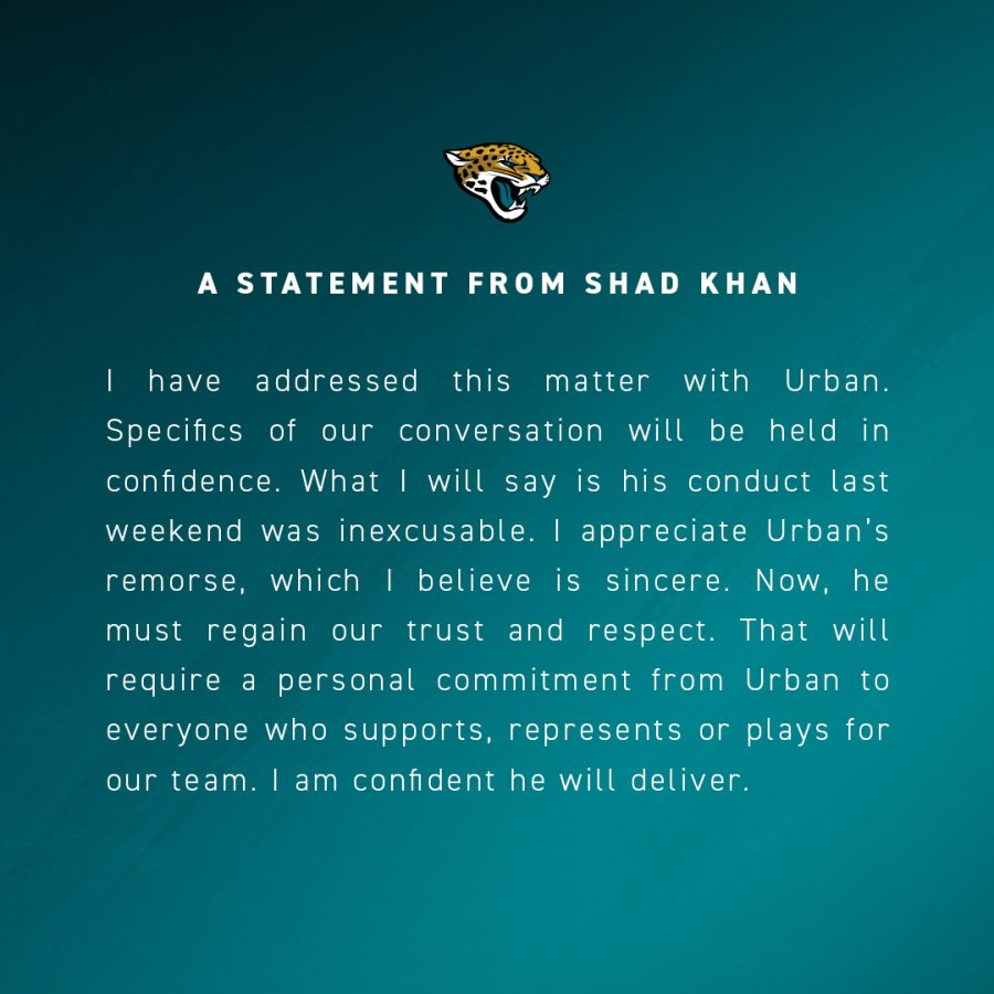 Shad Khan statement